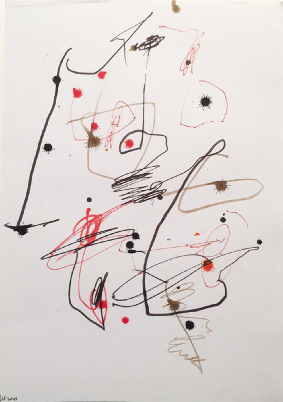 MARC FELD 2003 LITTLE SONG FOR MAURICIO KAGEL 13 Stylo feutre sur papier 21x29, 7 cm