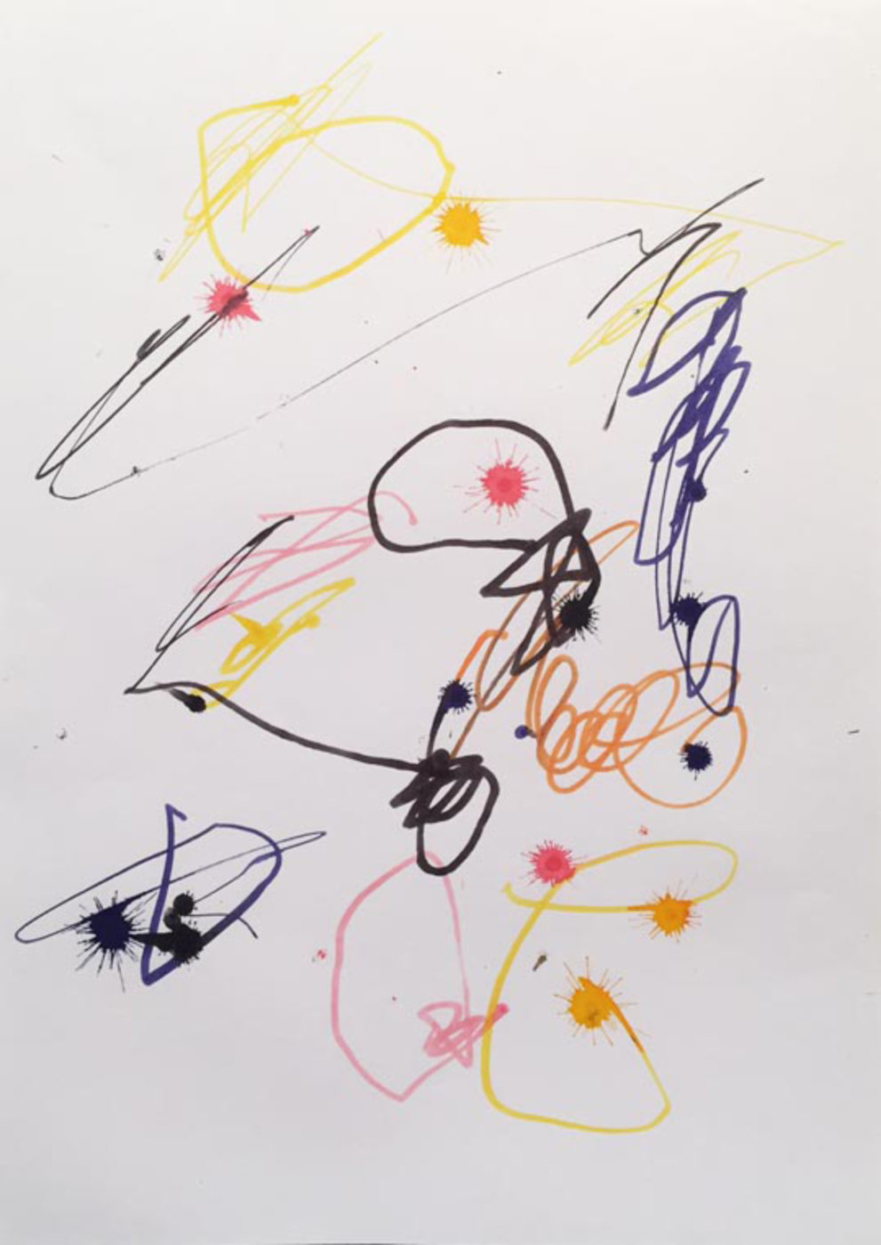 MARC FELD 2003 LITTLE SONG FOR MAURICIO KAGEL 4 Stylo feutre sur papier 21x29, 7 cm