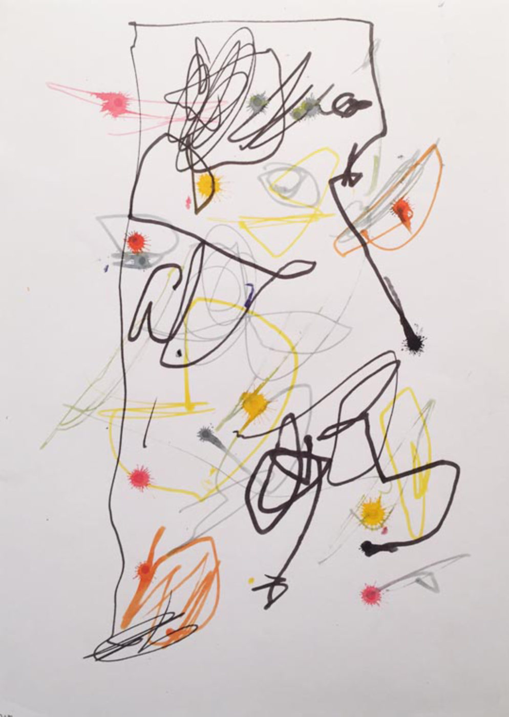MARC FELD 2003 LITTLE SONG FOR MAURICIO KAGEL 9 Stylo feutre sur papier 21x29, 7 cm
