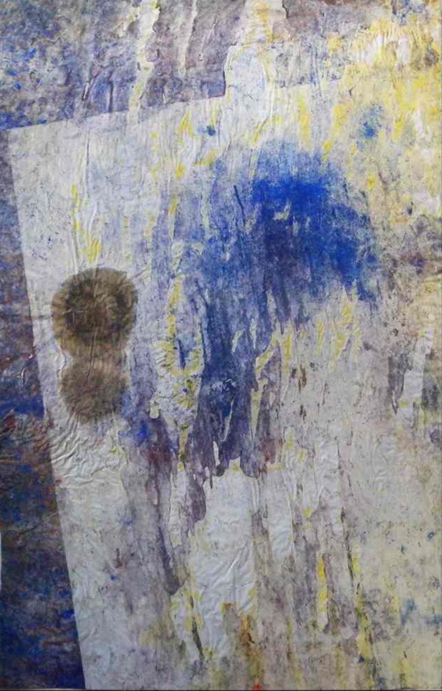 MARC FELD 2004 SANS FRÉMIR huile et pigment sur papier 52 x 117 cm
