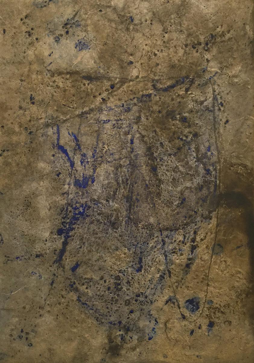 MARC FELD 2008 SOCLE 2 Huile et pigment sur papier 21x29,7 cm