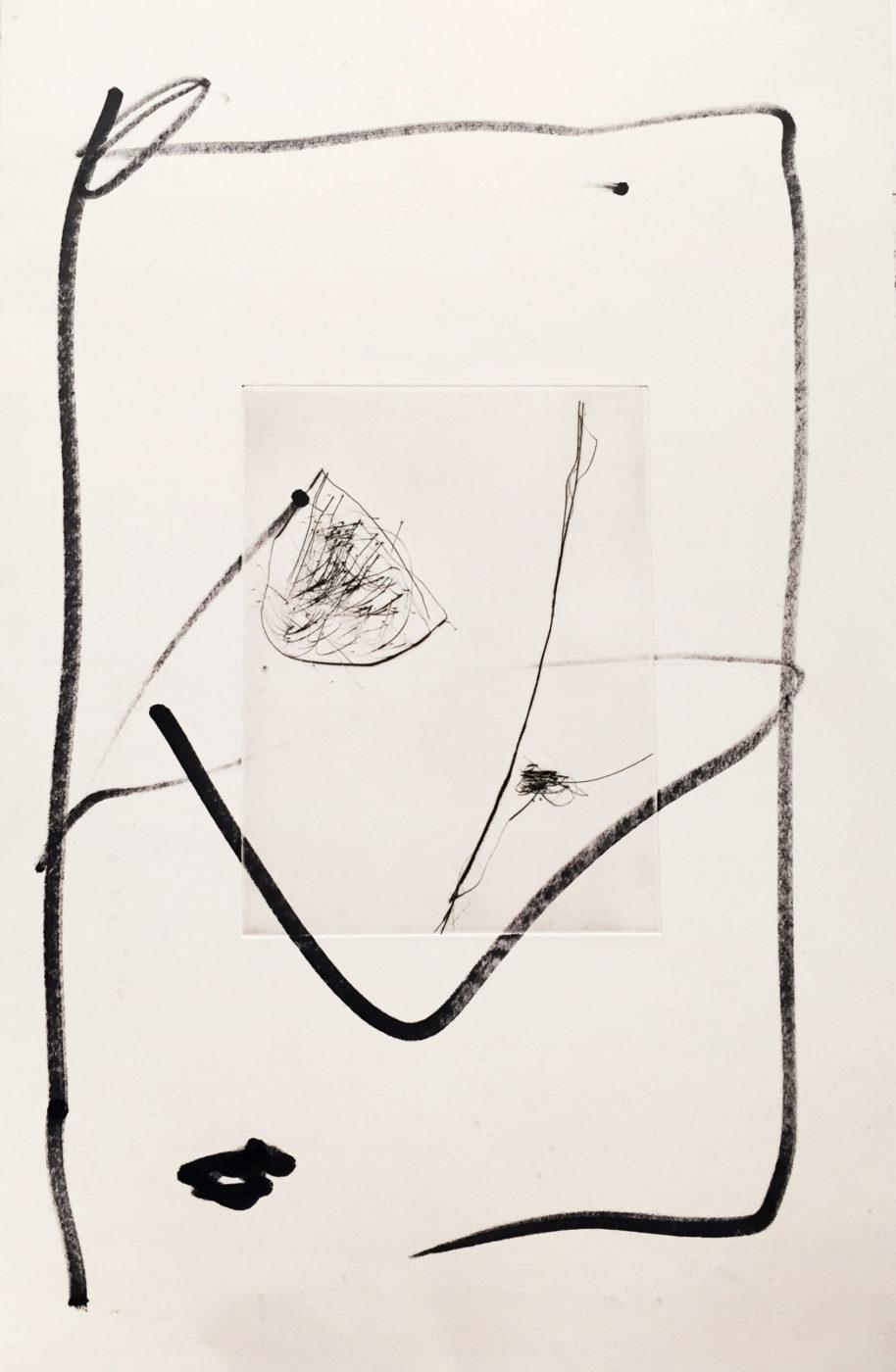 MARC FELD 2010-2016 LIGNES DE FUITE 5 Gravure sur zinc rehaussée au stylo feutre 28 x 38 cm tirage Patrick Vernet