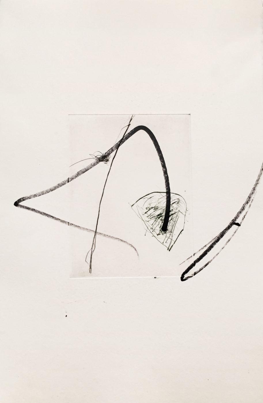 MARC FELD 2010-2016 LIGNES DE FUITE 6 Gravure sur zinc rehaussée au stylo feutre 28 x 38 cm tirage Patrick Vernet