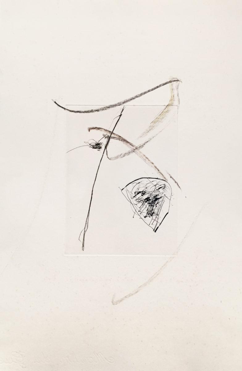 MARC FELD 2010-2016 LIGNES DE FUITE 8 Gravure sur zinc rehaussée au stylo feutre 28 x 38 cm tirage Patrick Vernet