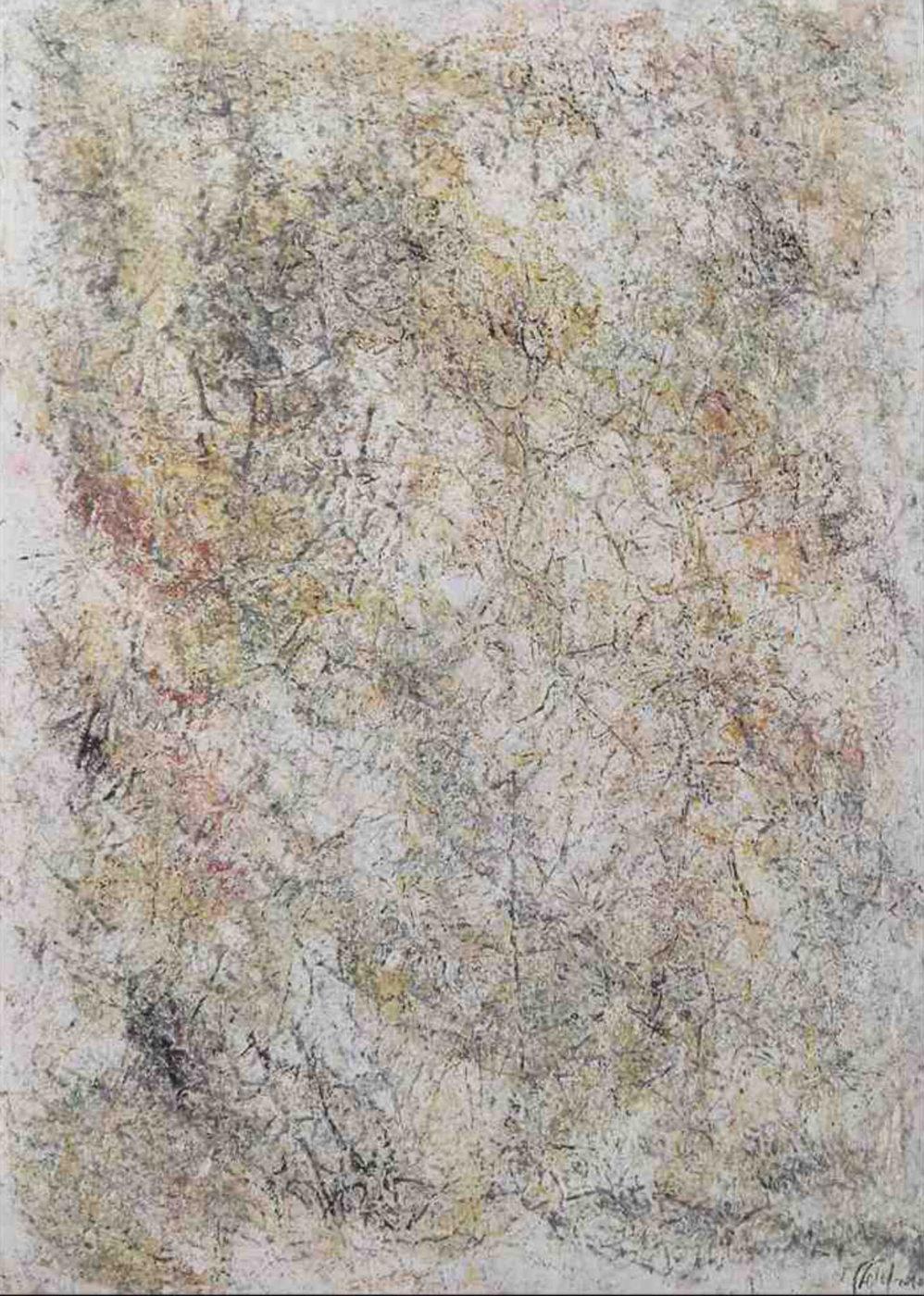MARC FELD 2010 CARTOMANCIE 4  Huile et pigment sur papier 44 x 63 cm