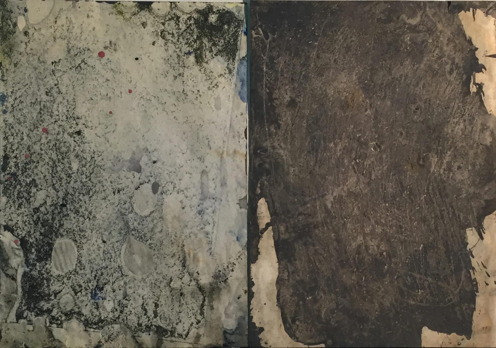 MARC FELD 2010 PRÉSENCE Huile sur papier 42 x 29,7 cm