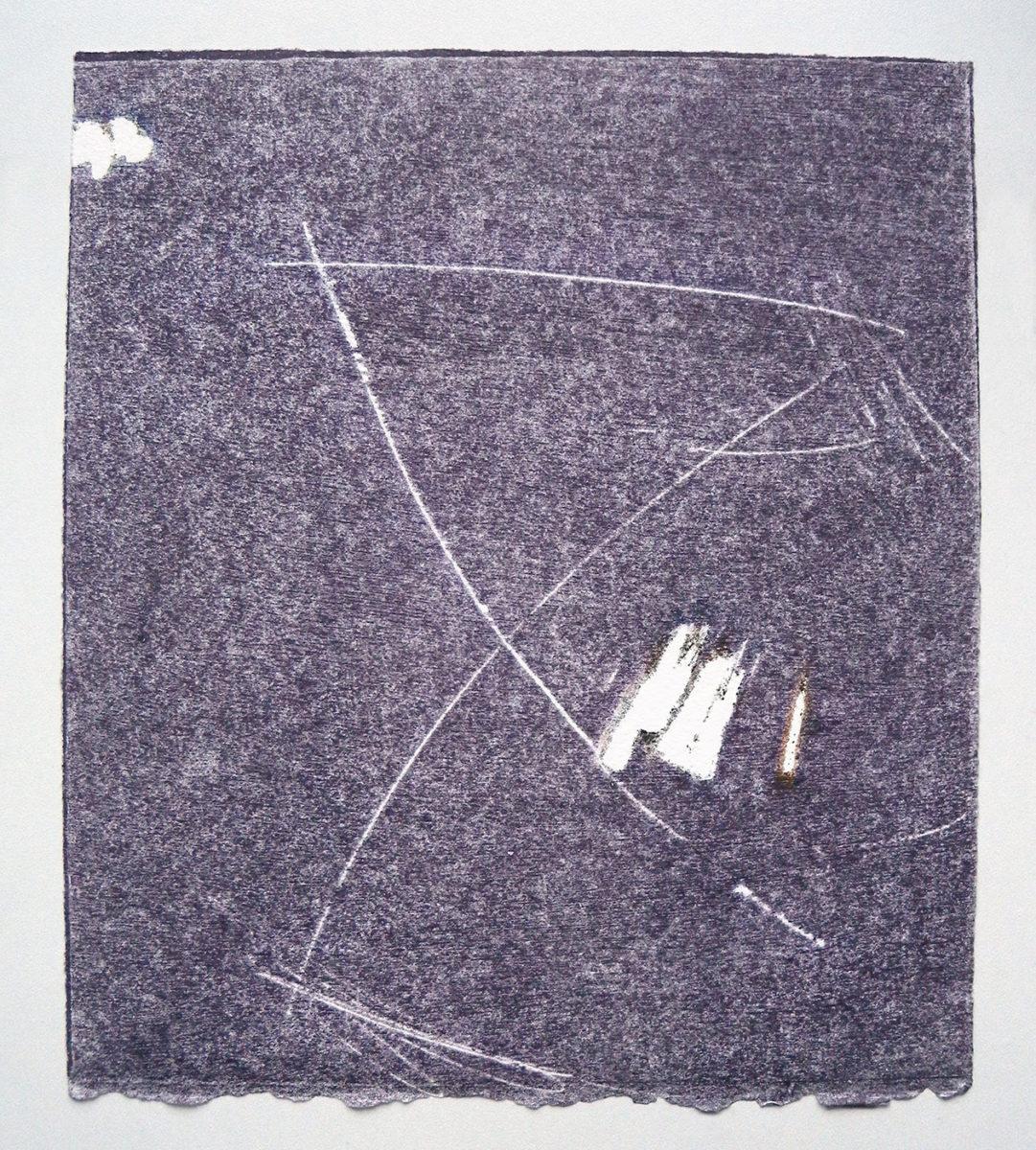 MARC FELD 2012 SONG FOR STEVE LACY 11 Gravure sur bois encre sur papier 25 x 26 cm (Tirage Patrick Vernet)