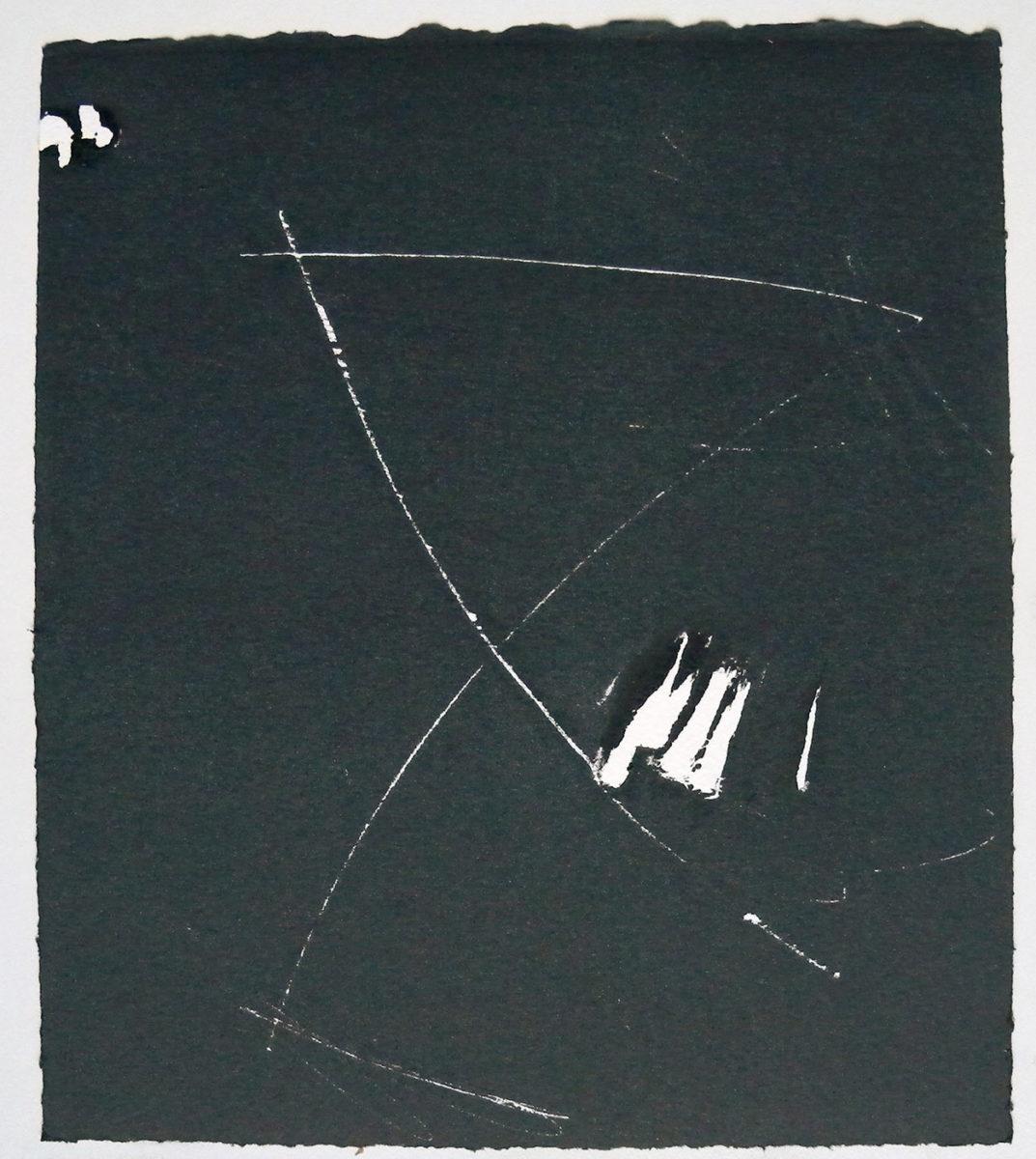 MARC FELD 2012 SONG FOR STEVE LACY 12 Gravure sur bois encre sur papier 25 x 26 cm (Tirage Patrick Vernet)