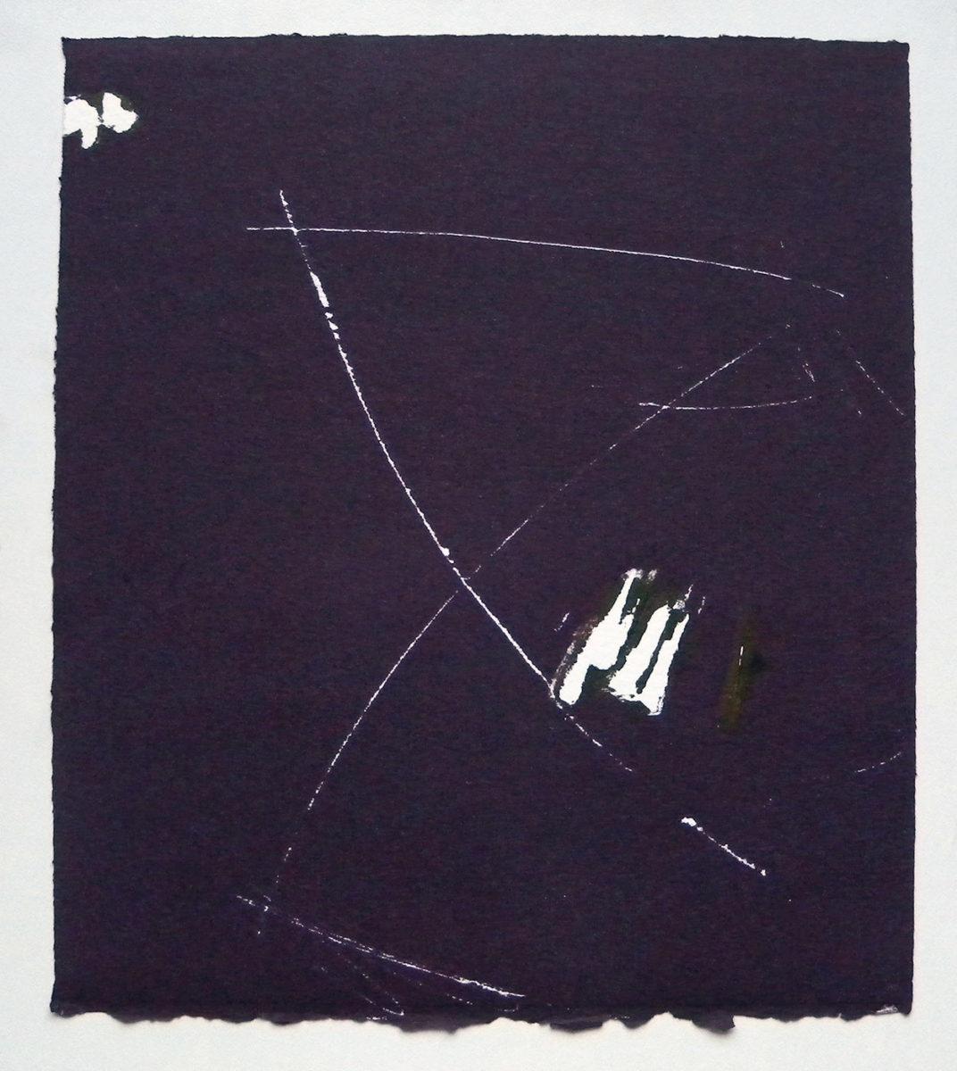 MARC FELD 2012 SONG FOR STEVE LACY 13 Gravure sur bois encre sur papier 25 x 26 cm (Tirage Patrick Vernet)
