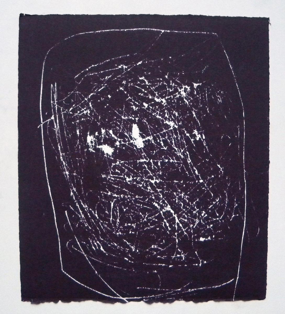 MARC FELD 2012 SONG FOR STEVE LACY 6 Gravure sur bois encre sur papier 25 x 26 cm (Tirage Patrick Vernet)