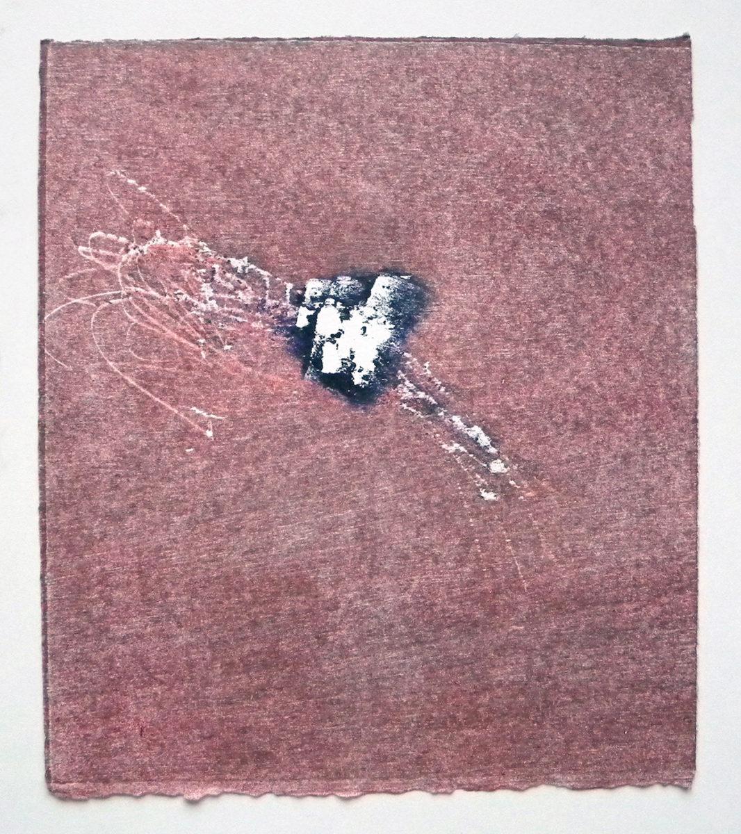 MARC FELD 2012 SONG FOR STEVE LACY 8' Gravure sur bois encre sur papier 25 x 26 cm (Tirage Patrick Vernet)