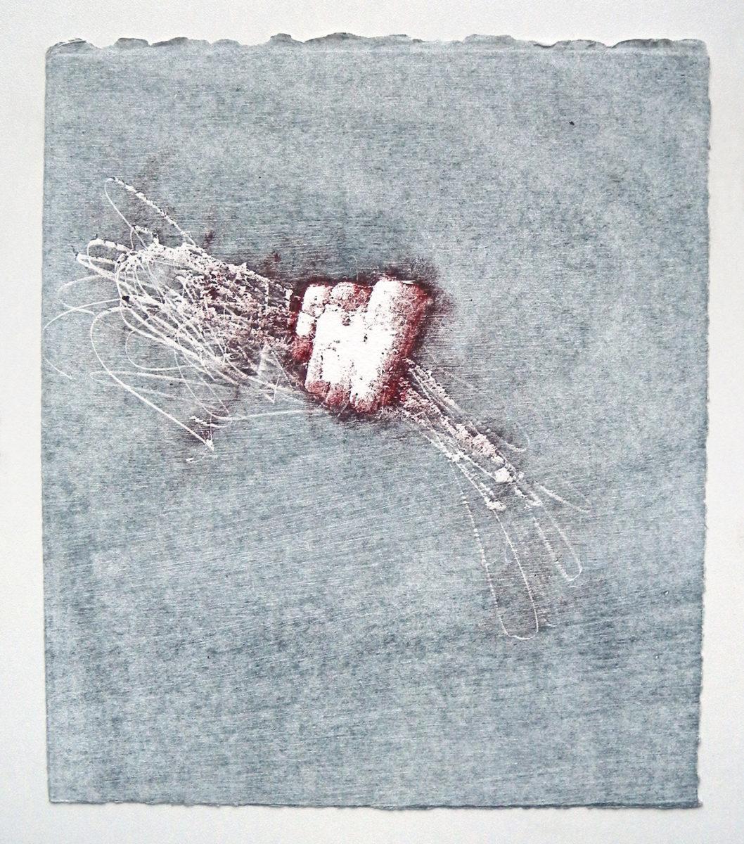 MARC FELD 2012 SONG FOR STEVE LACY 9 Gravure sur bois encre sur papier 25 x 26 cm (Tirage Patrick Vernet)