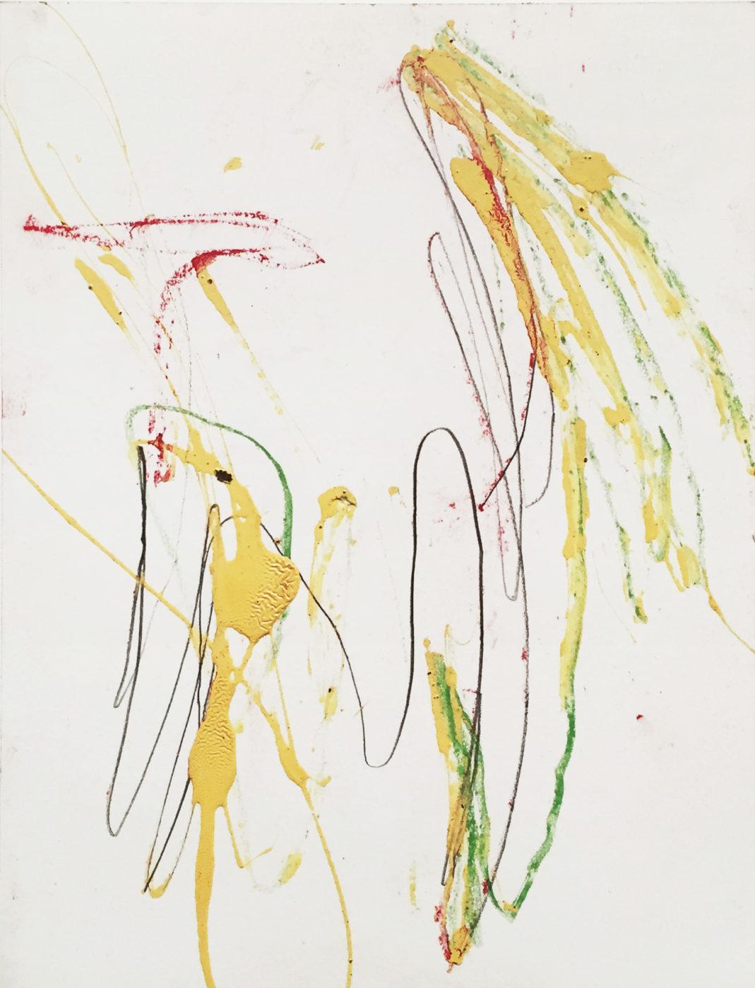 MARC FELD 2012 UN ADIEU 2 Peinture industrielle mine de plomb et crayon de couleur sur papier 24x32 cm