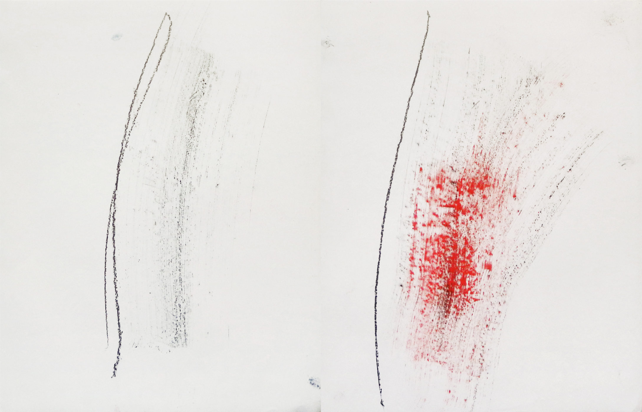 MARC FELD 2014 ACHAB  Mine de plomb et pigment sur papier 65 x 100 cm