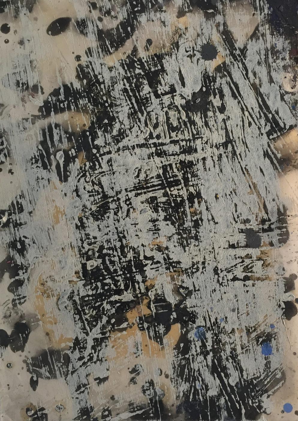 MARC FELD 2014 PEAU DE LA VIEILLE HUTTE 1 Huile sur papier 24x32 cm