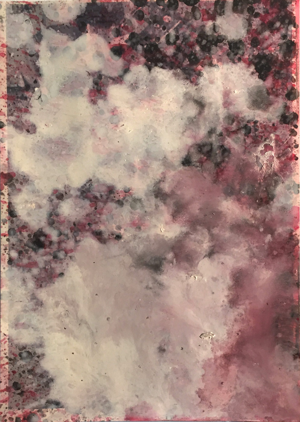 MARC FELD 2015 ÉLÉGIE 2 Huile sur papier 21x29,7 cm