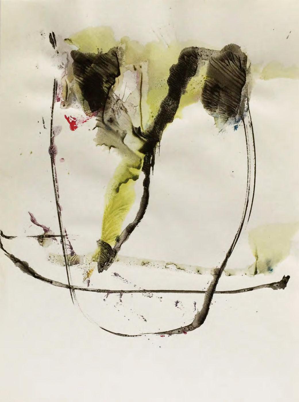 MARC FELD 2015 VISAGE 15 Gouache sur papier 24x32 cm