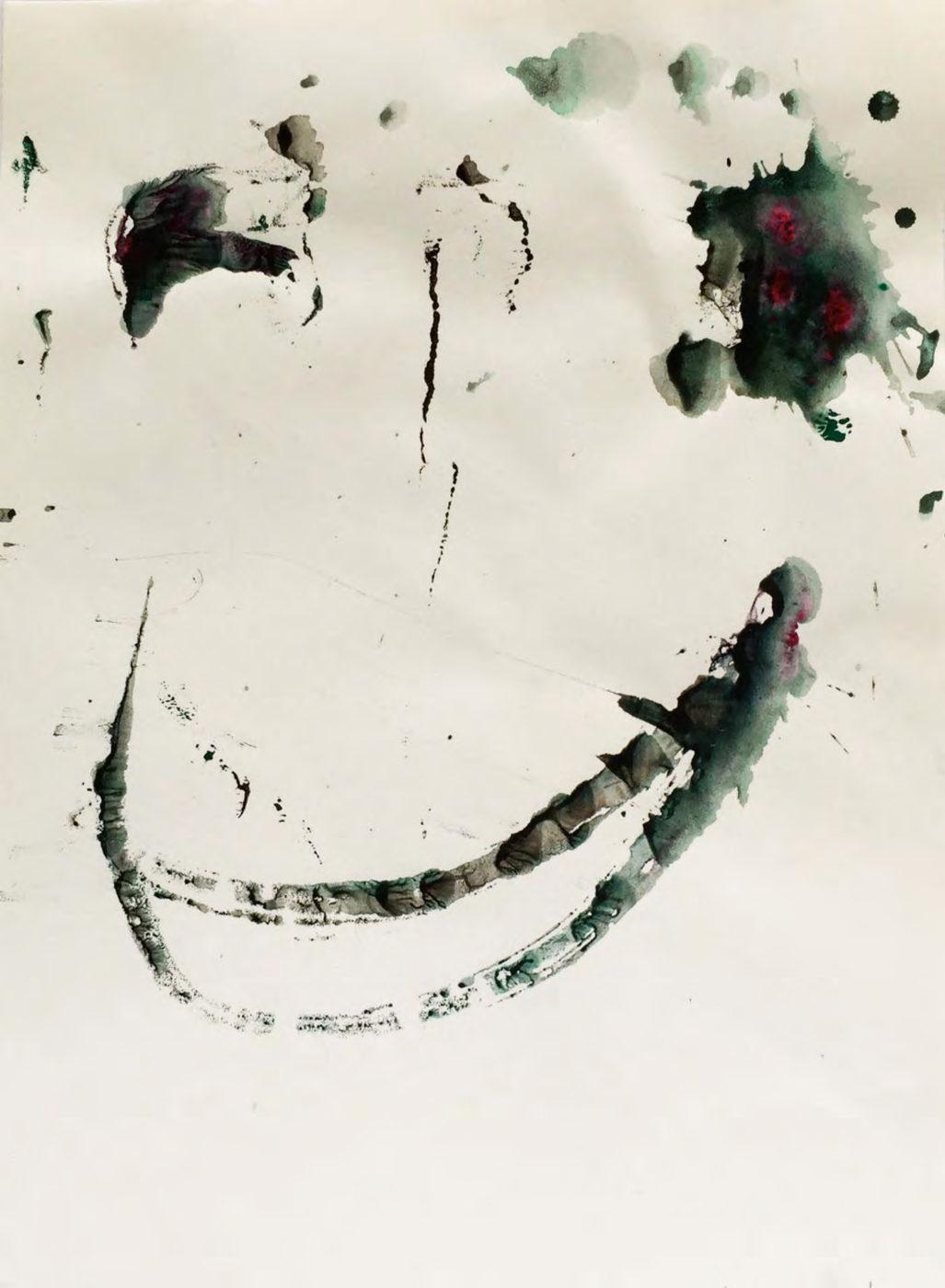 MARC FELD 2015 VISAGE 18 Gouache sur papier 24x32 cm
