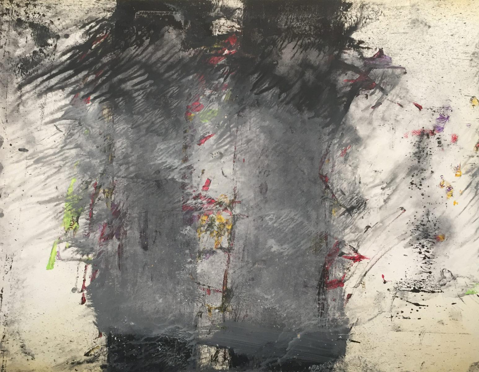 MARC FELD 2016 ARBORESCENCE 1 Huile, gouache et acrylique sur papier 50 x 65 cm