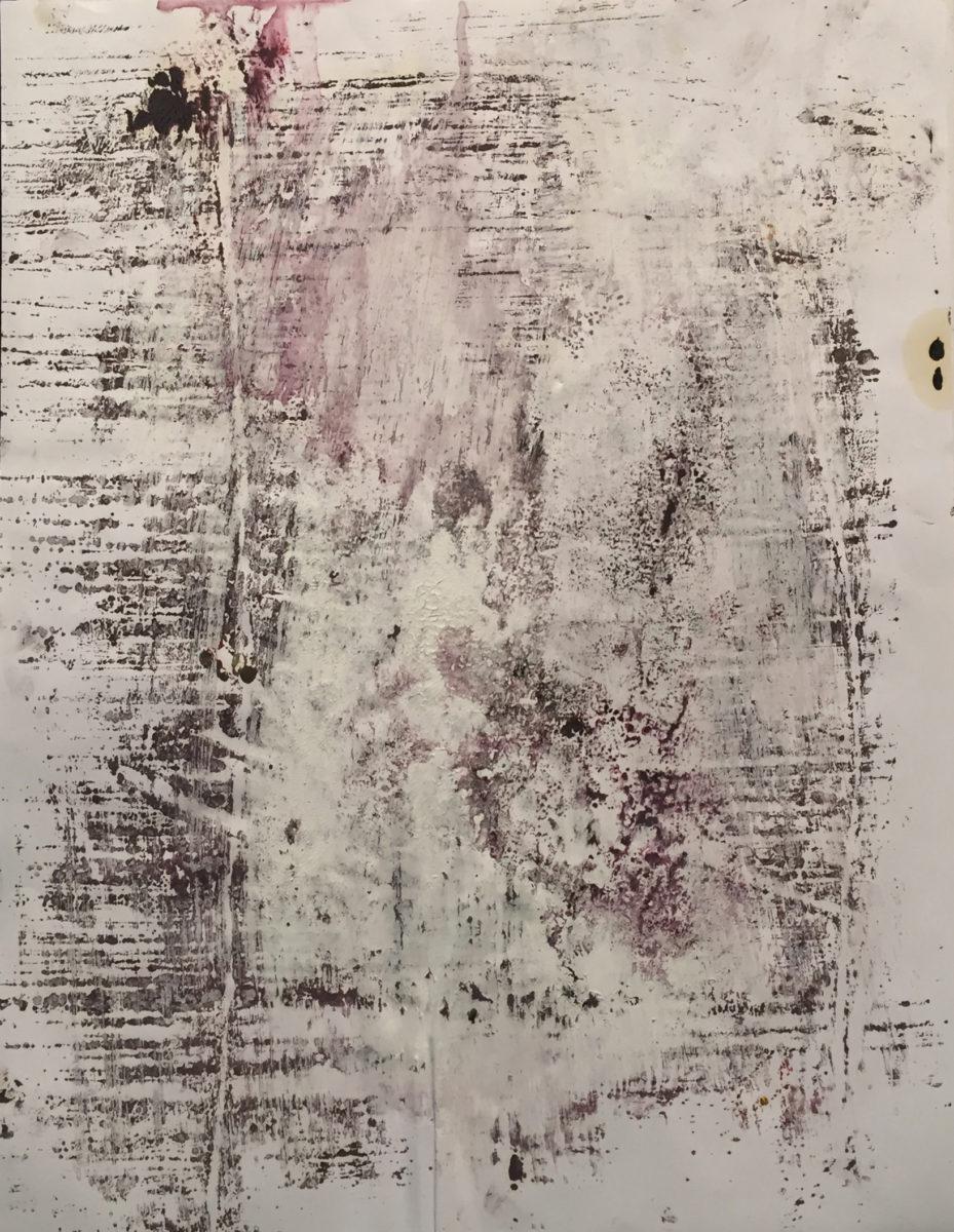 MARC FELD 2016 CHAIR Huile et acrylique sur papier 50 x 65 cm