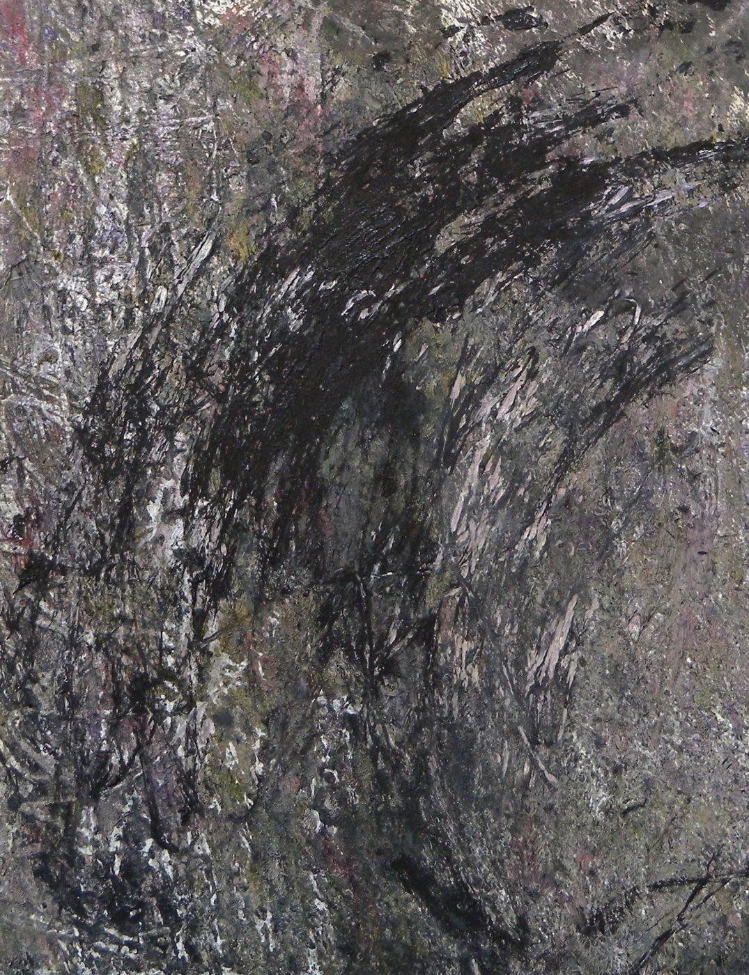MARC FELD 2016 FÉROCE huile et acrylique sur papier 24 x 32 cm