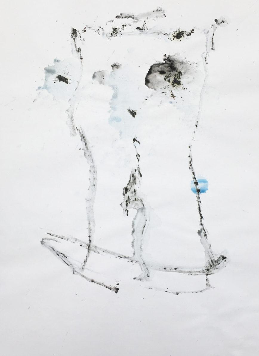 MARC FELD 2016 VISAGE 3 Gouache sur papier 29,5x42 cm