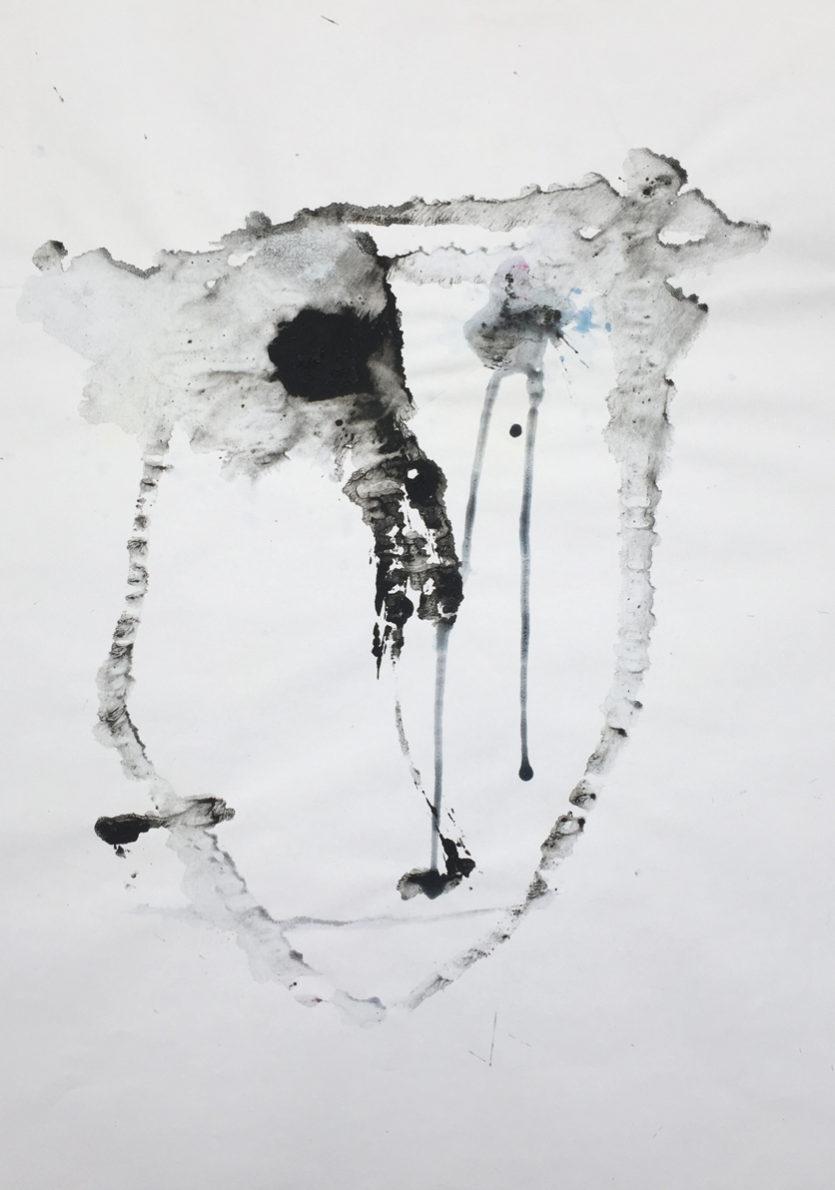 MARC FELD 2016 VISAGE 4 Gouache sur papier 29,5x42 cm