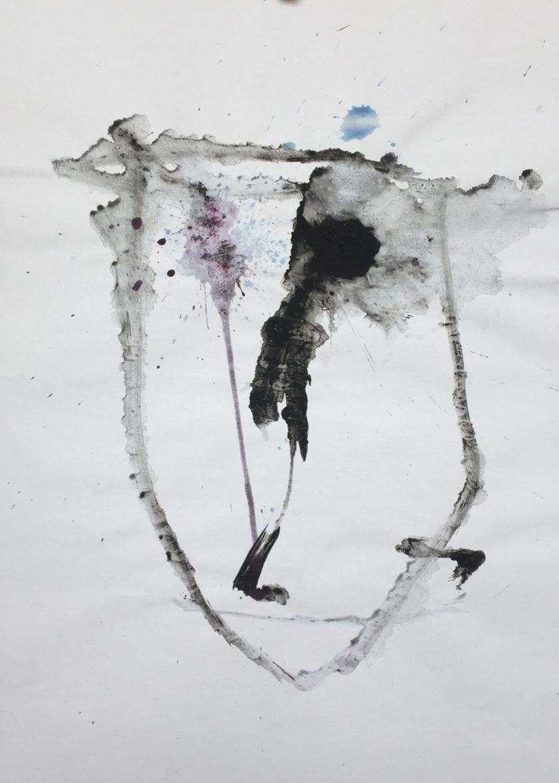 MARC FELD 2016 VISAGE13 Gouache sur papier 29,5x42 cm