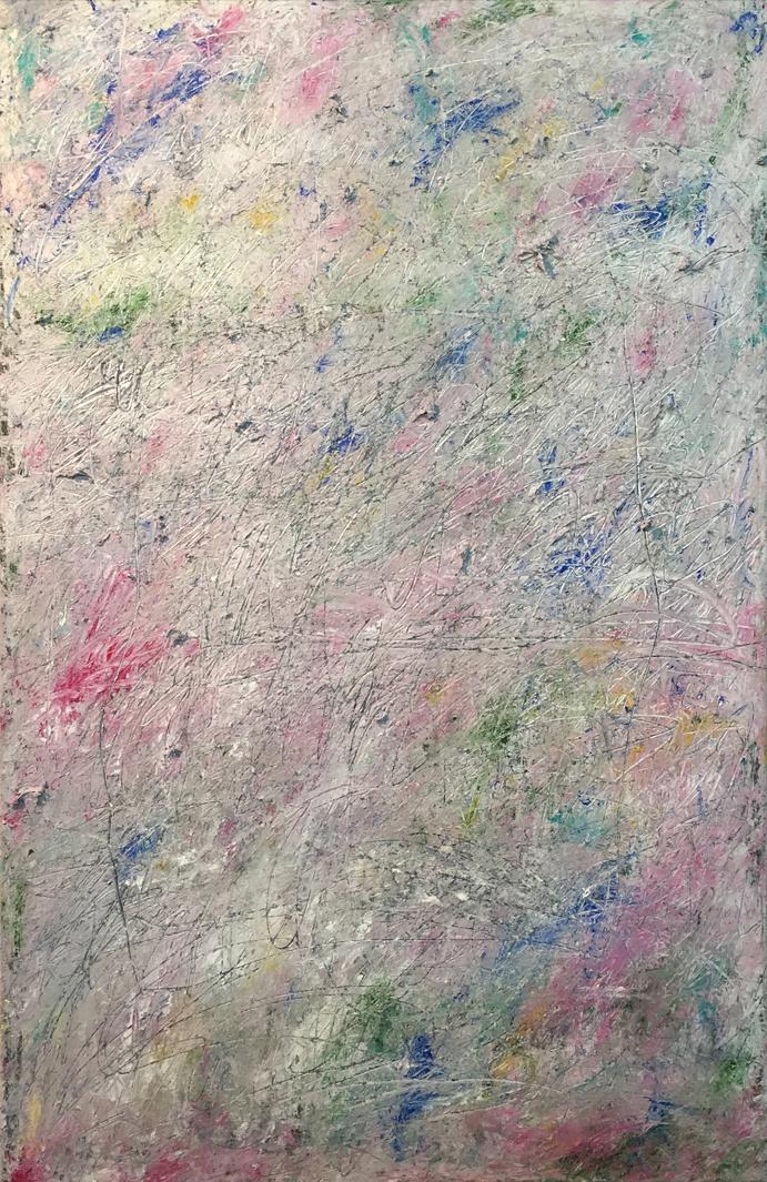 MARC FELD 2017 FARIDONDAINES Huile et acrylique sur papier marouflé sur toile 100 x 65 cm