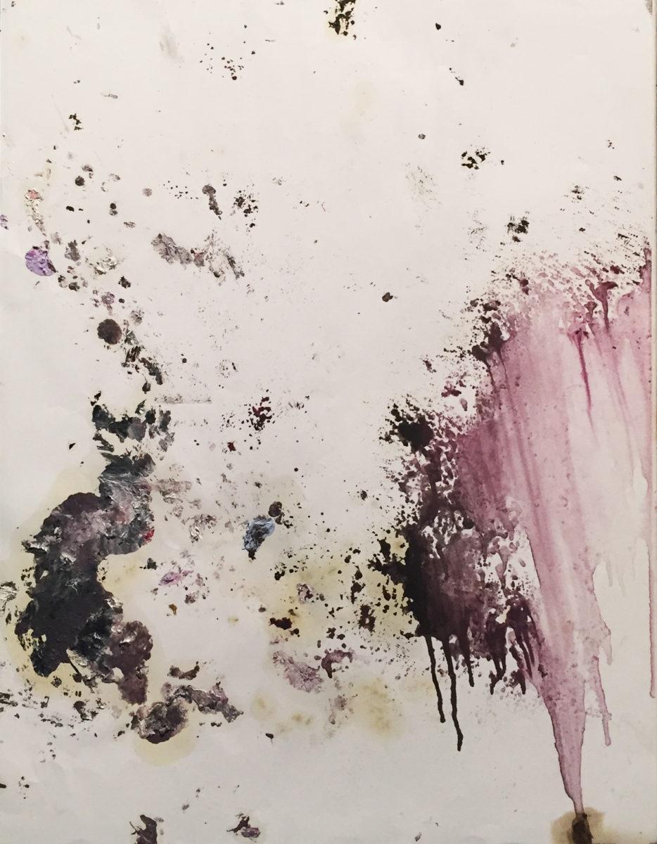 MARC FELD 2017 ODE Huile et acrylique sur papier 50 x 65 cm