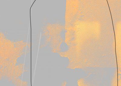 MARC FELD 2018 DÉSASTRE 2 dessin sur ordinateur tirage  encre sur Canson 240 g marouflé sur Dibon 110 x 72cm