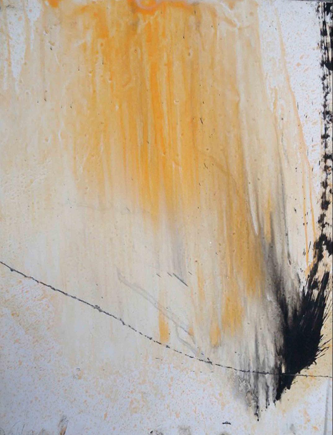 MARC FELD 2006 SAGAIE Huile et mine de plomb sur papier 50 x 65 cm