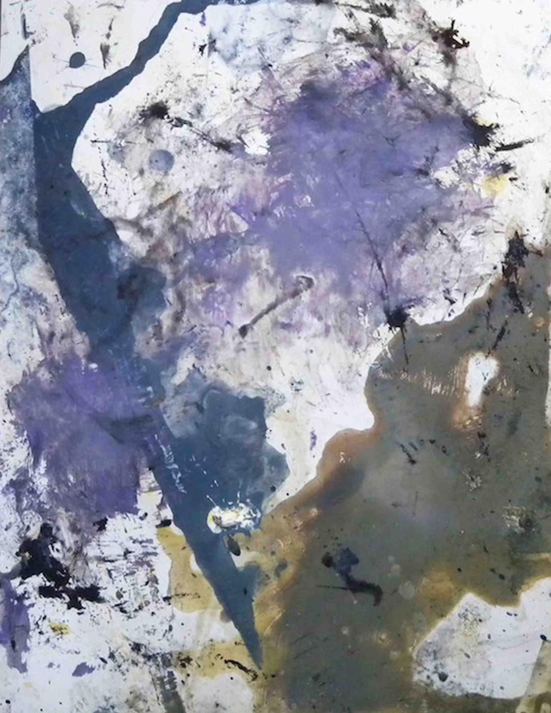 MARC FELD 2012 RACINES Huile et encre sur papier  50 x 65 cm