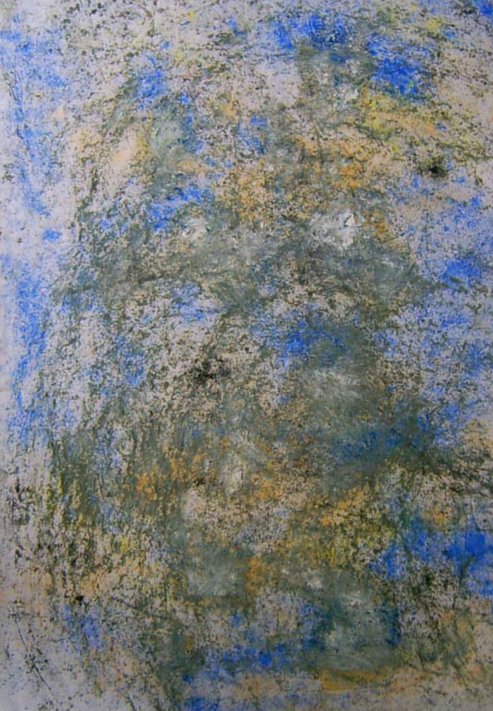 MARC FELD 2012 VIGILANCE  Huile et pigment sur papier  52 x 117 cm