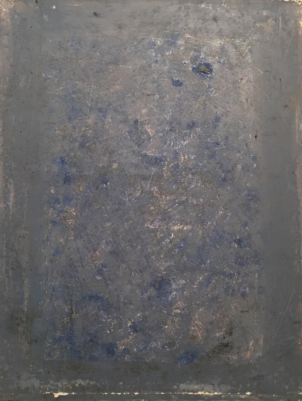 MARC FELD 1992 ÉBÉNISTE Huile sur papier 50 x 65 cm