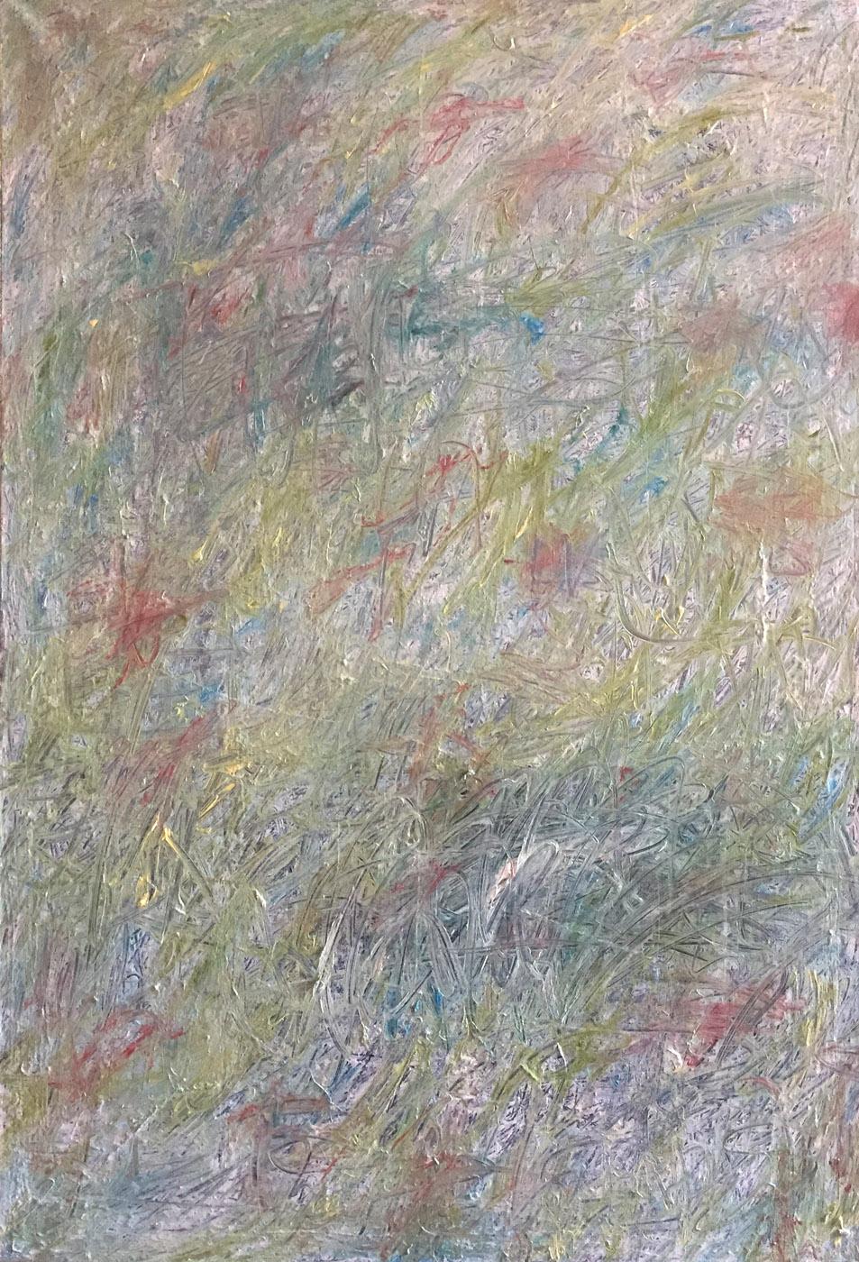 MARC FELD 2019 PRAIRIE Huile et acrylique sur toile 89 x 130 cm