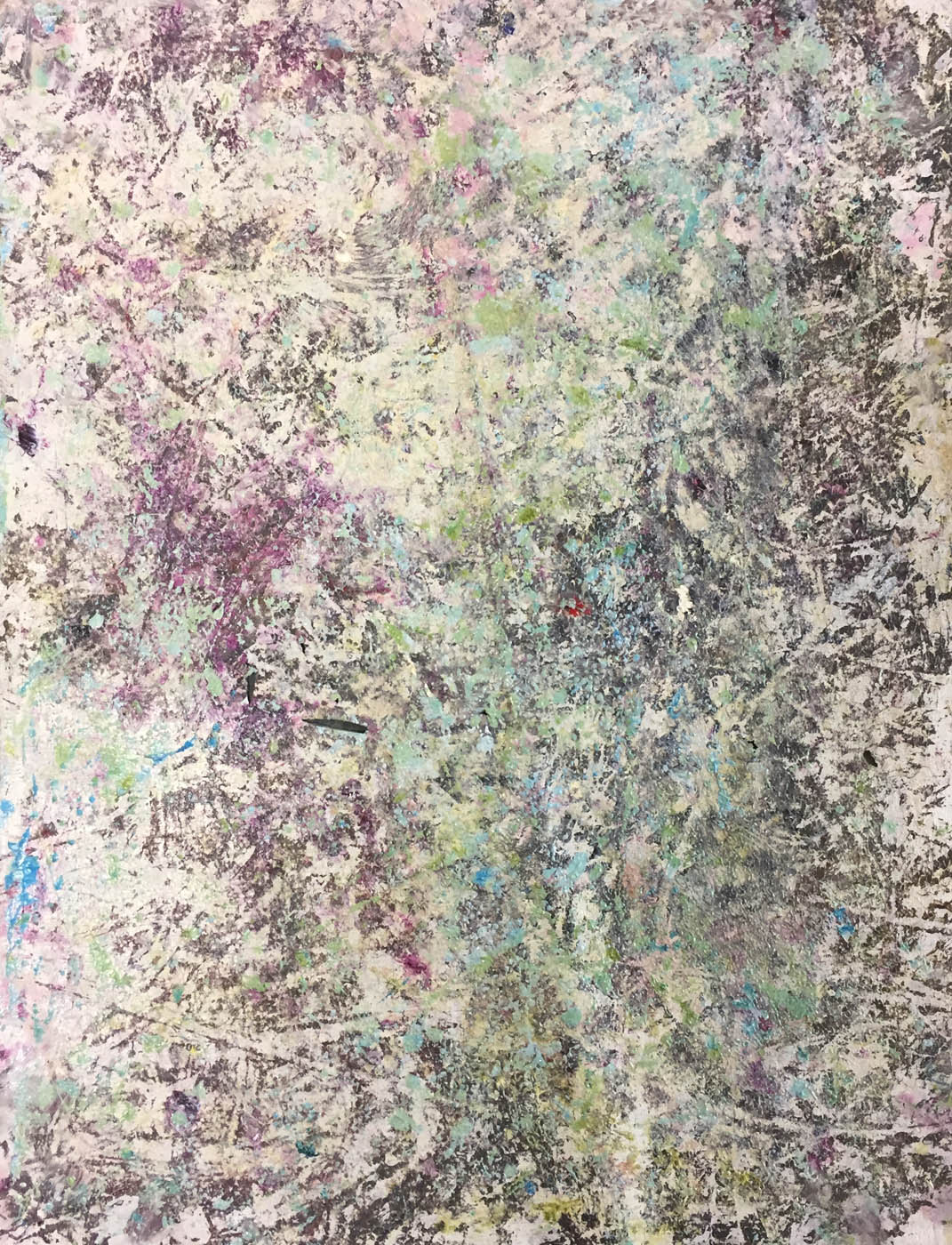 MARC FELD 2019 SONORITÉS Huile et acrylique sur papier 50 x 65 cm