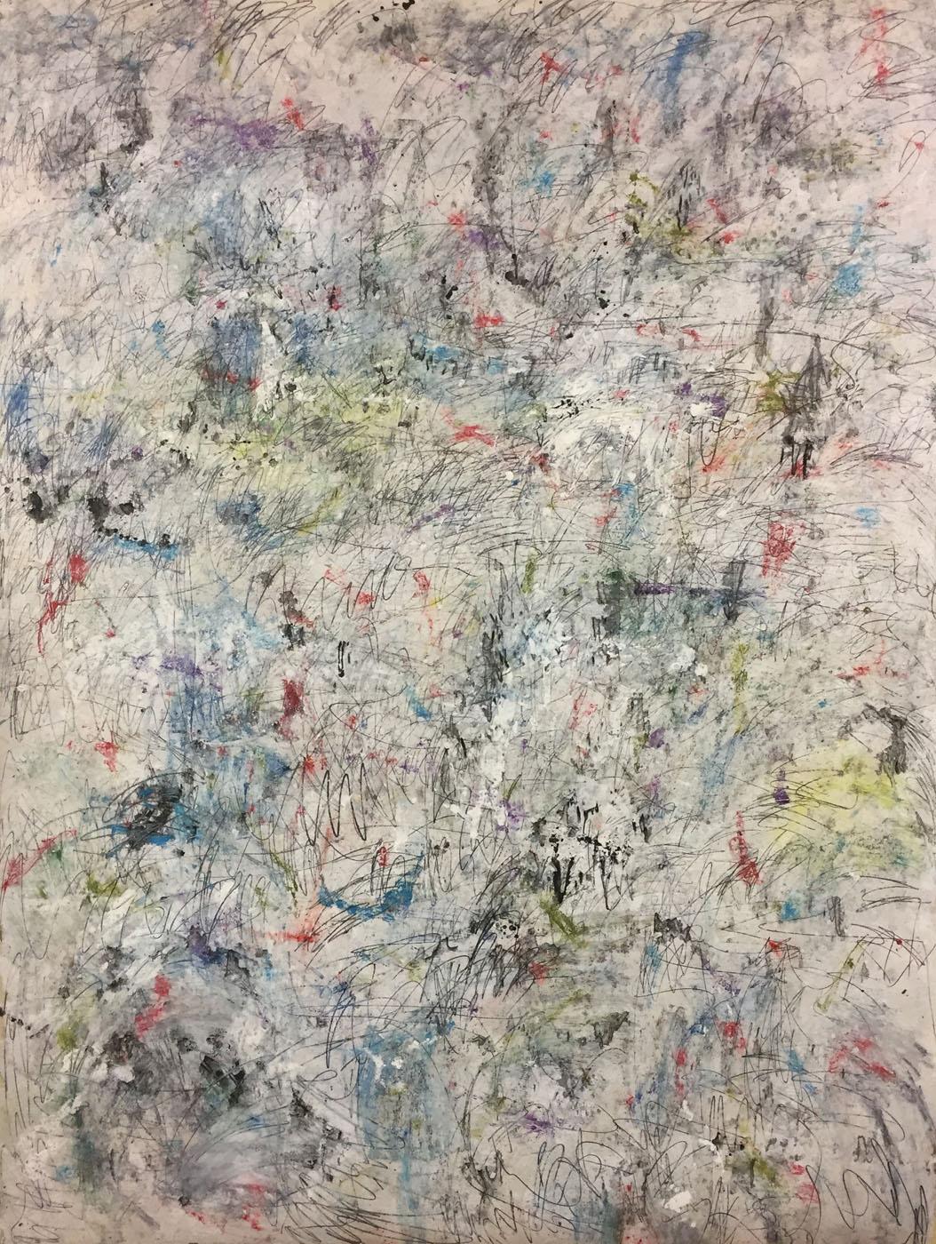MARC FELD 2019 ÉCHO DES ÉTOILES 1 Huile, gouache et mine de plomb sur papier 150 x 200 cm