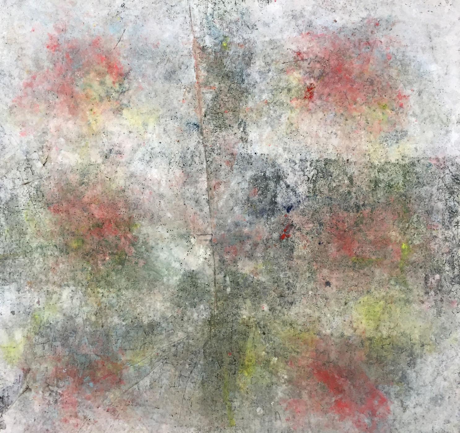 MARC FELD 2019 PRÉSAGE Huile, acrylique, gouache et pigment sur papier 150 x 160 cm