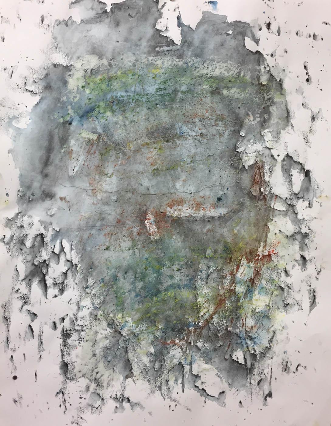 MARC FELD 2019 MEMORY TREE 4 Gouache, acrylique et pigment sur papier 50 x 65 cm