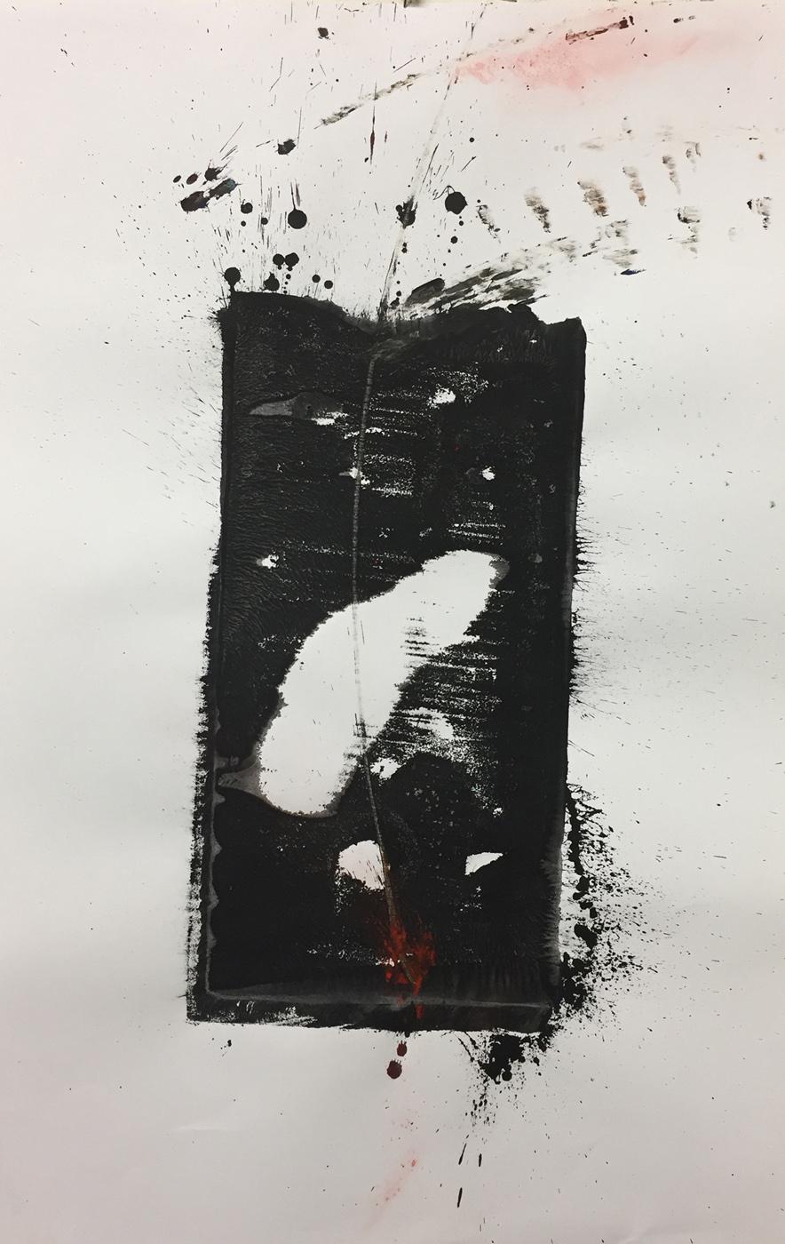 MARC FELD 2019 PAS Gouache, acrylique et pigment sur papier 50 x 32 cm