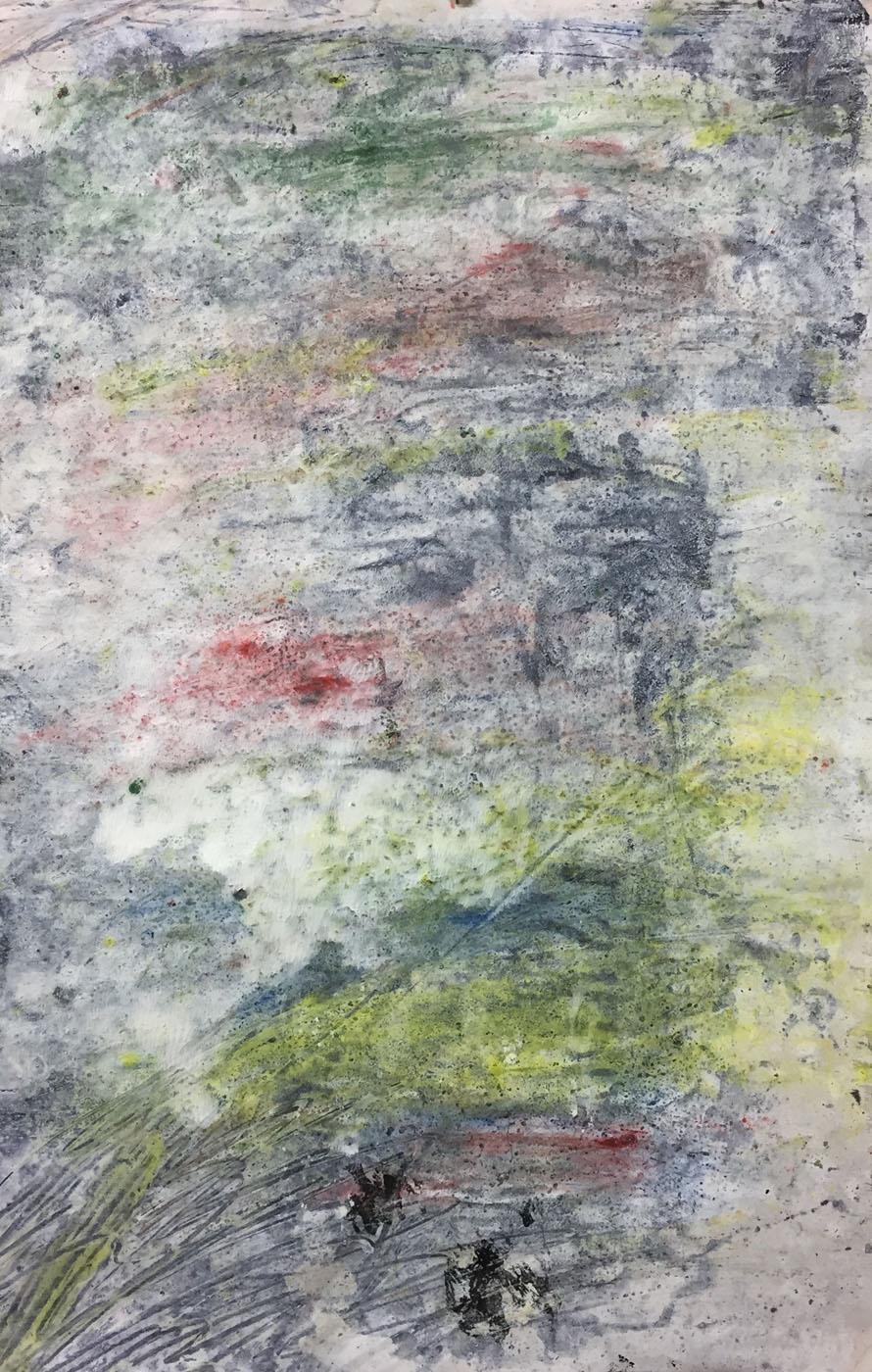 MARC FELD 2019 SANS TITRE Gouache, acrylique et pigment sur papier 50 x 32 cm