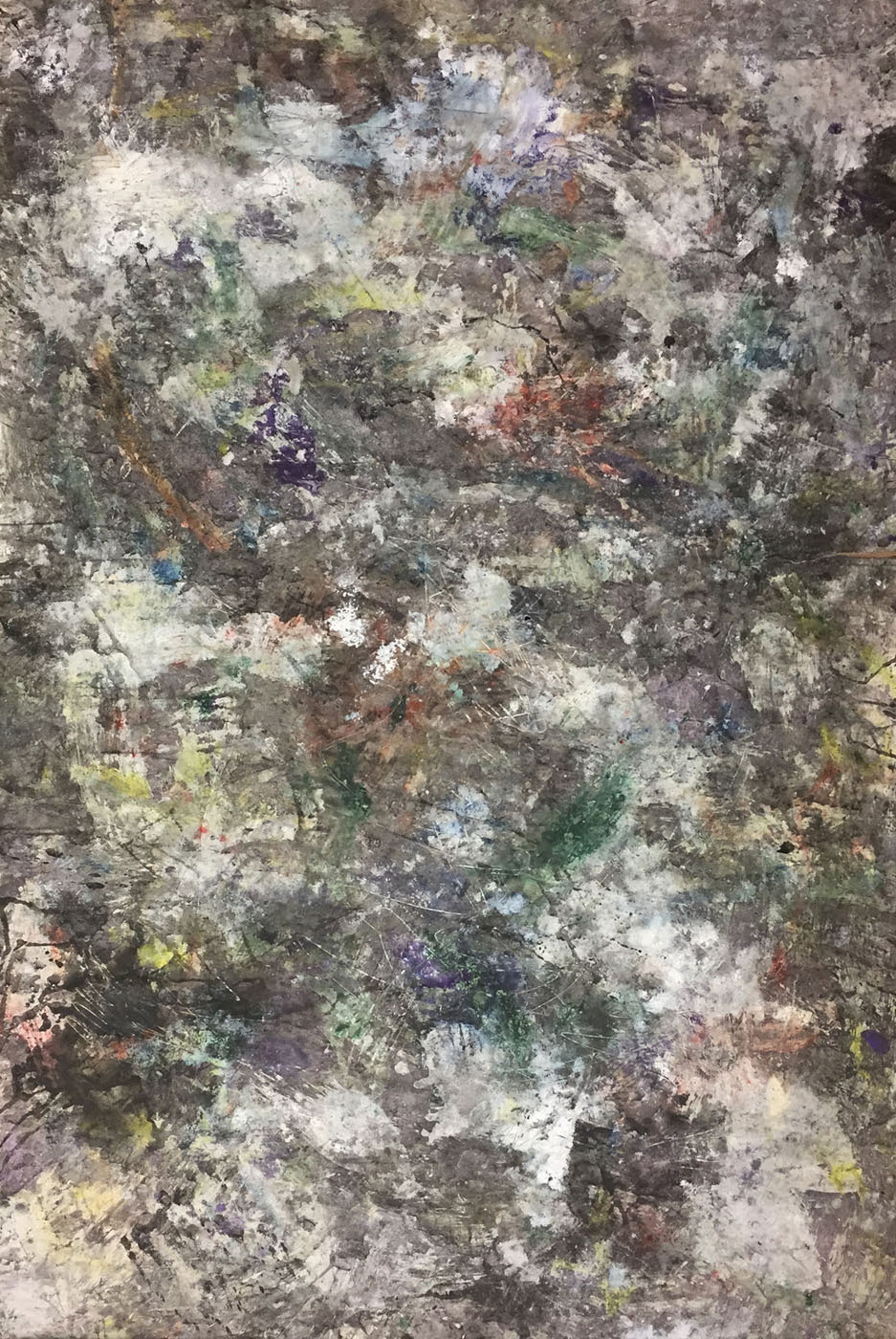 MARC FELD 2019 DÉFLAGRATION DES SOURCES 10 Huile, pigment et gouache sur papier 89 X 130 cm