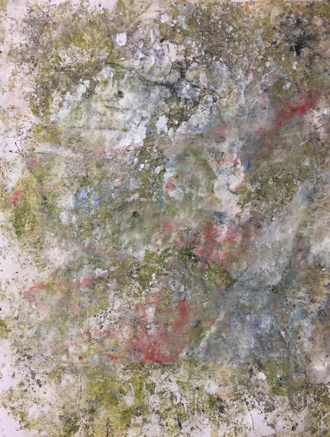 MARC FELD 2019 TRACES OF JOHN 3 Huile, pigmnent, acrylique et gouache sur papier 50 x 65 cm