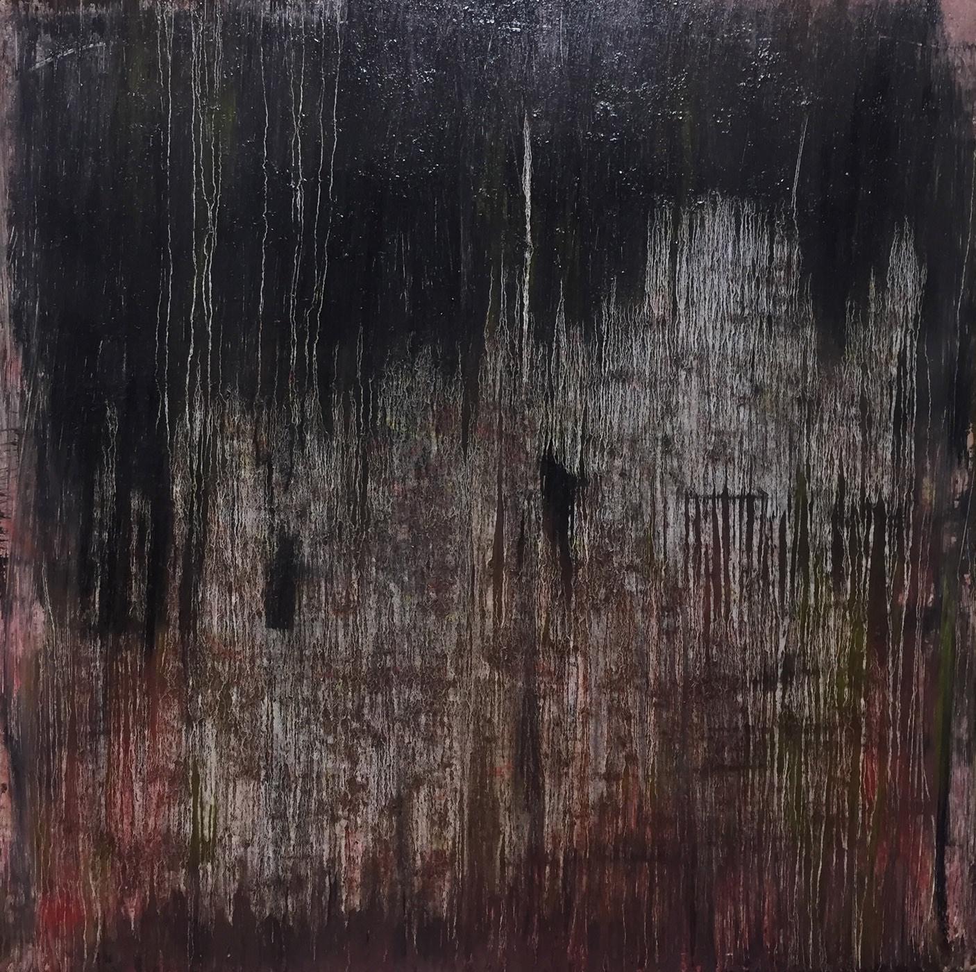 MARC FELD 2020 LISTENING TO HORACE PARLAN Huile et acrylique sur toile 150 x 150 cm