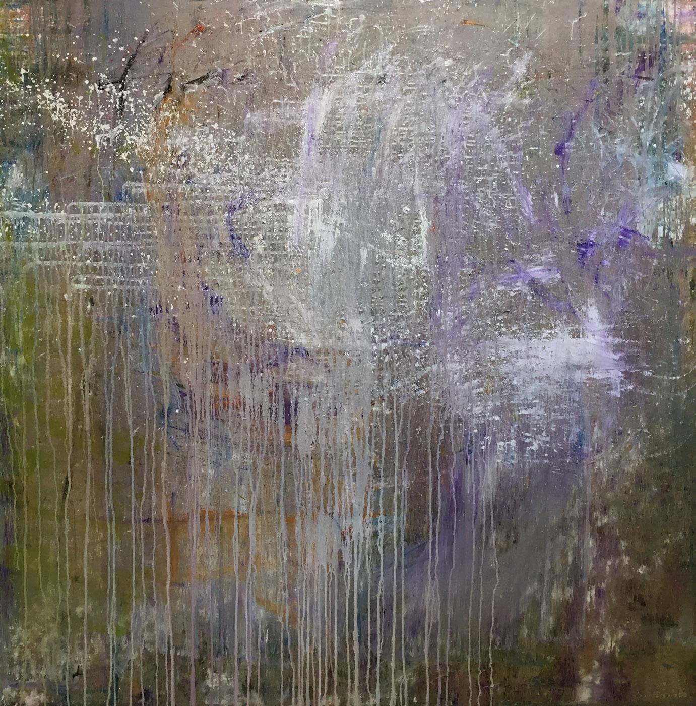 MARC FELD 2020 LISTENING TO PAUL CHAMBERS Huile et acrylique sur toile 150 x 150 cm
