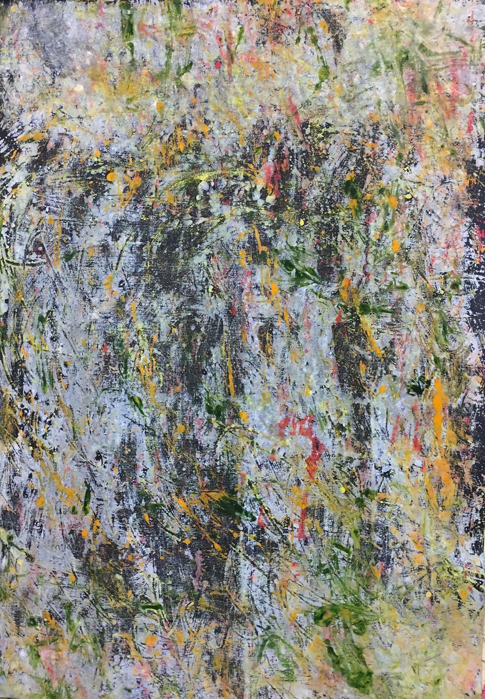 MARC FELD 2020 GROOVE 3 Huile, acrylique et pigment sur papier 70 x 130 cm