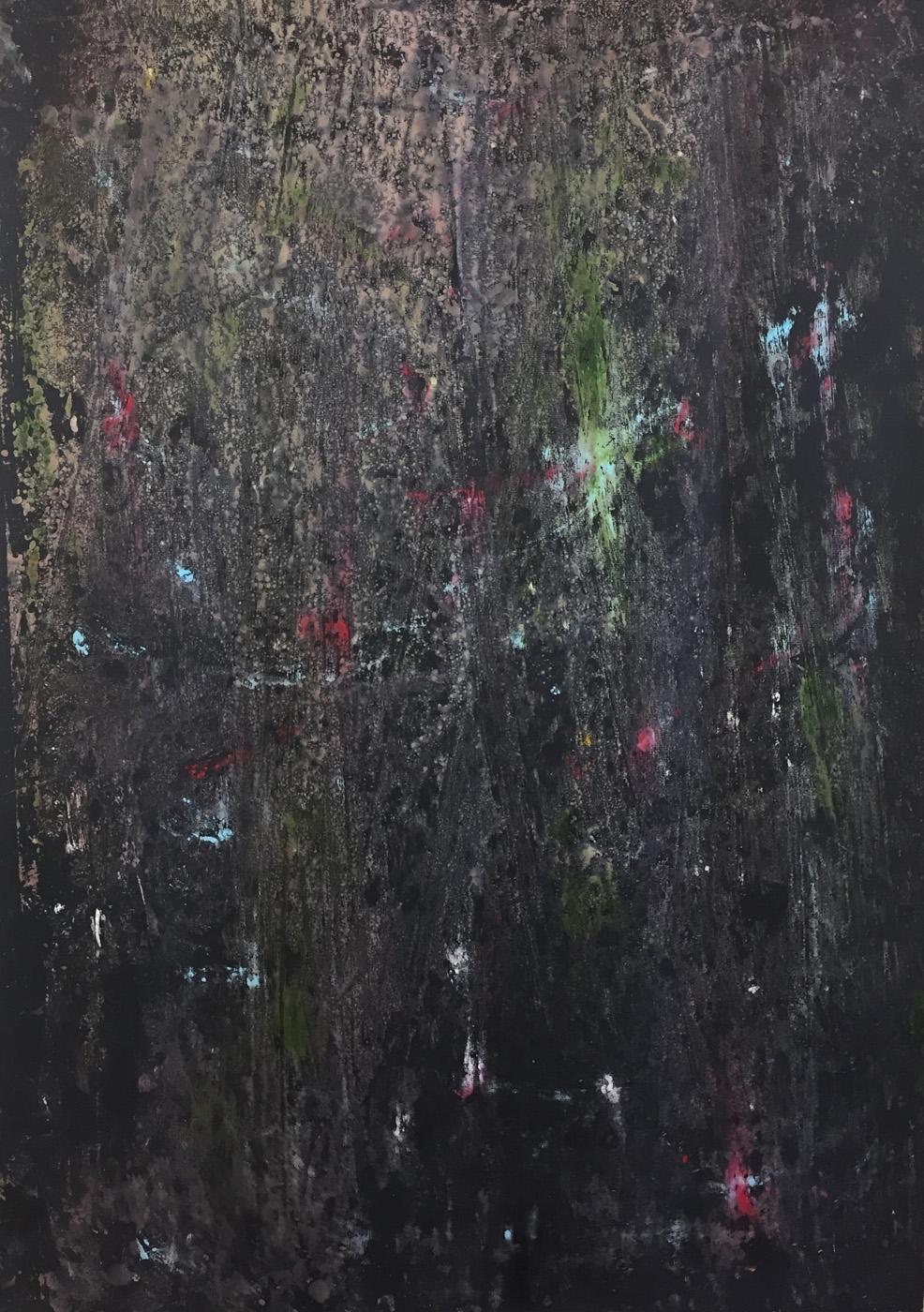MARC FELD 2020 POSSIBILITIES 1 Huile, acrylique et pigment sur papier 70 x 130 cm