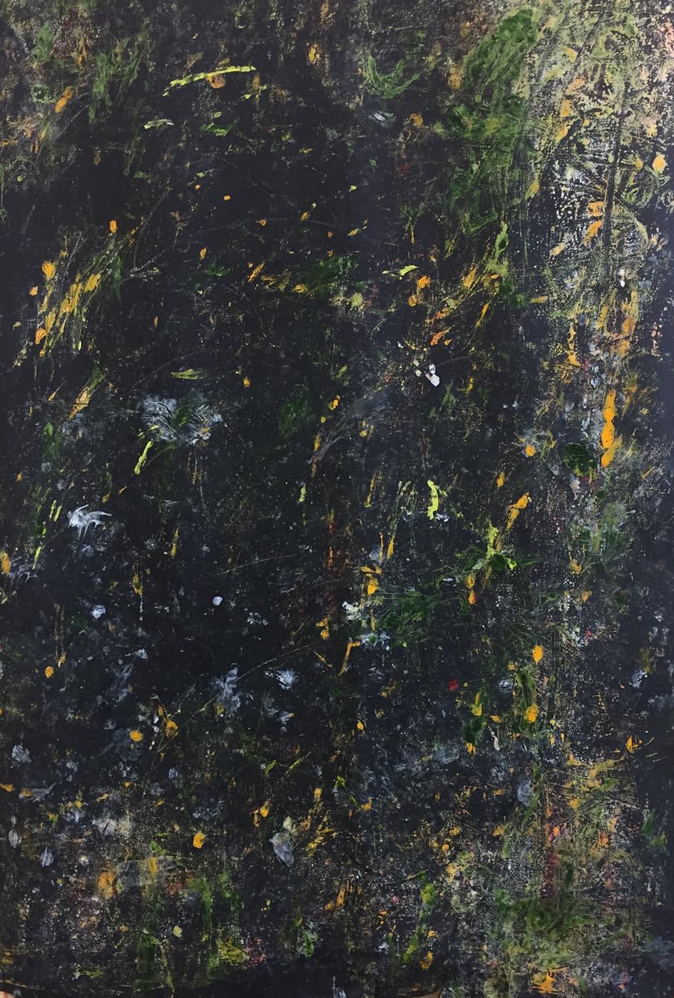 MARC FELD 2020 POSSIBILITIES 3 Huile, acrylique et pigment sur papier 70 x 130 cm