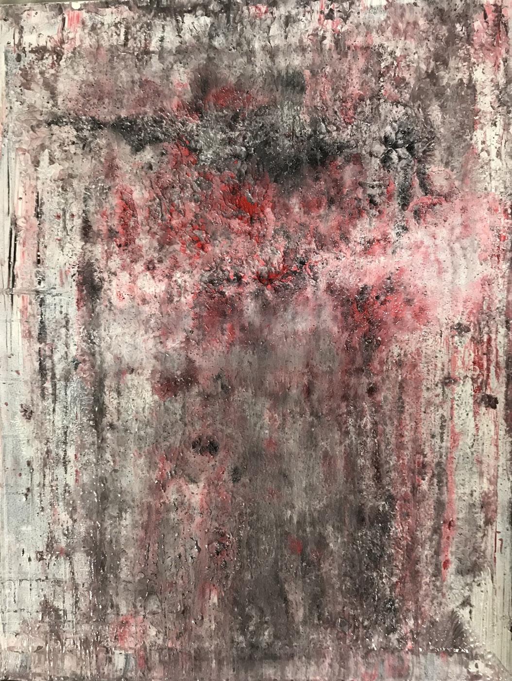 MARC FELD 2020 BRASIER 2 Huile sur papier marouflé sur toile 50 x 65 cm
